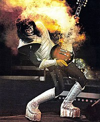Frehley demonstrates the pyrotechnics that helped make Kiss a live sensation.