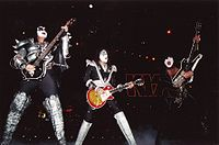 Kiss performing in Paris on March 21, 1999