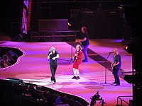 AC/DC performs at Estadi Olímpic Lluís Companys in Barcelona on 29 May 2015 during their Rock or Bust Tour