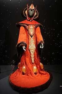 Portman's costume from The Phantom Menace, on display at the Detroit Institute of Arts