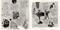 Interior artwork from the CD version of the album, featuring a volatile collage of images and lyrics