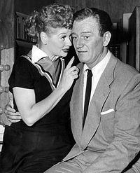 With Lucille Ball in I Love Lucy, 1955