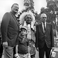 John and Ethan Wayne with Walter Knott in 1969