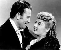 With Joan Blondell in Lady for a Night (1942)