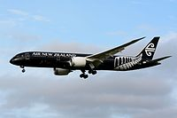 A Boeing 787-9 Dreamliner of Air New Zealand, the flag carrier of New Zealand