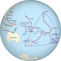 The Māori people descend from Polynesians whose ancestors emigrated from Taiwan to Melanesia between 3000 and 1000 BCE and then travelled east, reaching the Society Islands c.undefined1000 CE. After a pause of 200 to 300 years, a new wave of exploration led to the discovery and settlement of New Zealand.
