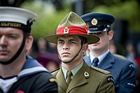 Anzac Day service at the National War Memorial