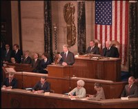 Jimmy Carter, 39th President of the United States (1977–1981), delivering the State of the Union Address in 1979.
