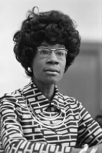 Shirley Chisholm was the first major-party African American candidate to run nationwide primary campaigns.