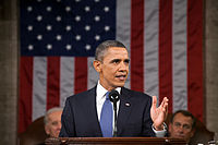 Barack Obama, 44th President of the United States (2009–2017), delivering the State of the Union Address in 2011.