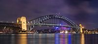 The Sydney Harbour Bridge is an important tourist attraction for New South Wales and a globally recognised image of Australia itself.