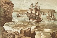 The landing of the First Fleet in Port Jackson on the 26 January 1788 was the first initial colonisation of Australia