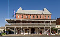 The Palace Hotel in Broken Hill, the only town in Australia to be listed on the National Heritage List.