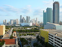 Since late 2001, Downtown Miami has seen a construction boom in skyscrapers, retail and has experienced gentrification.