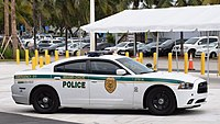 A Miami-Dade Police Department vehicle