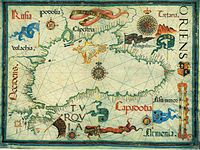 A medieval map of the Black Sea by Diogo Homem.