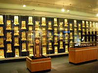 NCAA National Championship trophies, rings, and watches won by UCLA teams