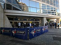 Exterior entrance to the Jays Shop at Rogers Centre