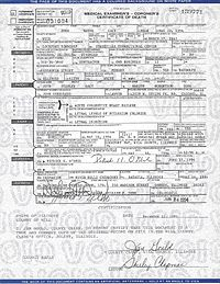 Gacy's official death certificate, issued May 10, 1994.