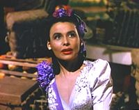 """Horne as Julie LaVerne in a mini-production of Show Boat in Till the Clouds Roll By (1946), singing """"Can't Help Lovin' Dat Man""""."""