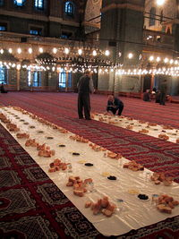 Iftar at Sultan Ahmed Mosque in Istanbul, Turkey