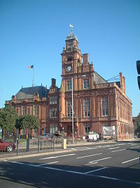 Great Yarmouth Town Hall, Hall Quay, opened: 1882; architect: J.B. Pearce