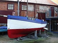 Small boat at the Time and Tide museum