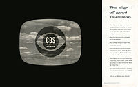 A 1951 advertisement for the CBS Television Network introduced the Eye logo.