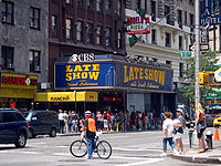 The Ed Sullivan Theater in Manhattan, the former studio of the Late Show with David Letterman which now houses The Late Show with Stephen Colbert