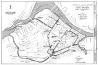 Central Lowell's canal system (1975) The city limits extend in all directions from this central core.