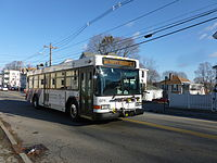 A bus of the Lowell Regional Transit Authority