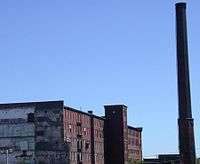 Mills sat abandoned after industry left the city in the early twentieth century.
