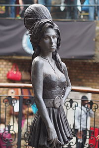 Bronze statue of Winehouse in Camden Town, London unveiled in September 2014.