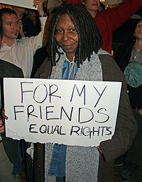 In New York City protesting the 2008 California Proposition 8