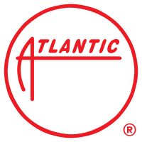 """Atlantic Records logo from its inception in 1947 to 1966 (it was still used on 7"""" single releases), used again from 1979 to 1981 and 2004 to 2015."""