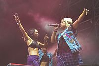 TLC performing live in 2016
