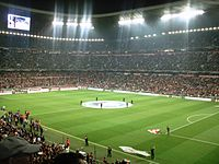 A Munich derby match at the Allianz Arena between Bayern and 1860 Munich in the quarter-final of the 2007–08 DFB-Pokal on 27 February 2008