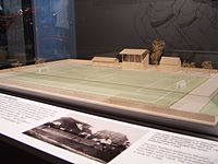 Model of Bayern's first stadium, their home from 1906 to 1924