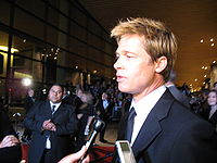 Pitt interviewed by the news media at the Palm Springs International Film Festival in 2007