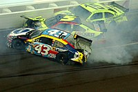 """Labonte lost control on lap 145, causing a """"Big One"""""""