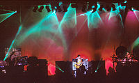 Emerson, Lake & Palmer were one of the most commercially successful progressive rock bands of the 1970s. They are seen here performing in 1992.