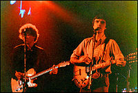 Talking Heads' Jerry Harrison (left) and David Byrne, late 1970s