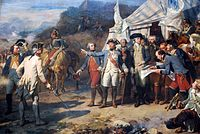 Siege of Yorktown, Generals Washington and Rochambeau give last orders before the attack