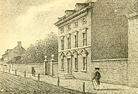 The President's House in Philadelphia was Washington's residence from 1790 to 1797