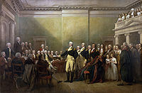 General George Washington Resigning His Commission, by John Trumbull, 1824
