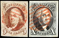nation's first postage stamps