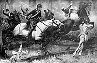 Battle of Fallen Timbers by R. F. Zogbaum, 1896. The Ohio Country was ceded to America in its aftermath.