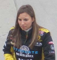 De Silvestro at the Indianapolis Motor Speedway in 2010