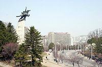 Statue of Chollima Movement in Pyongyang