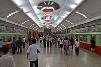 Pyongyang Metro with bomb shelters functions